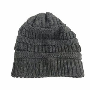 Time and Tru One Size Grey Knit Hat